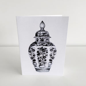 Standard Greeting Card - Black Temple Jar Homewares nz
