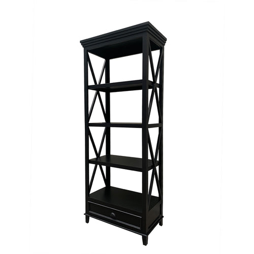 Hamptons Small Bookshelf - Black