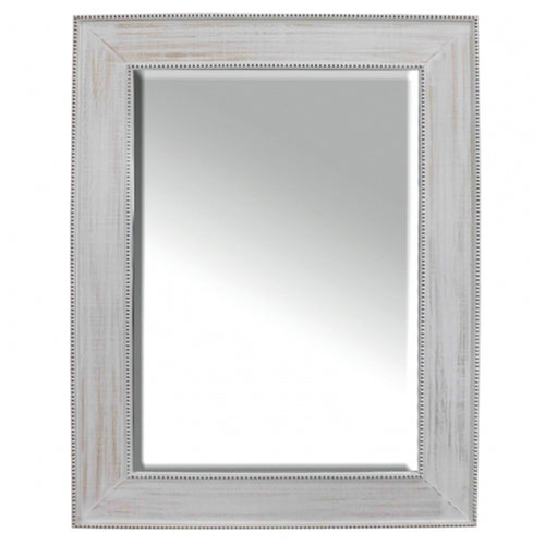Rania White Washed Wooden Mirror 114cm