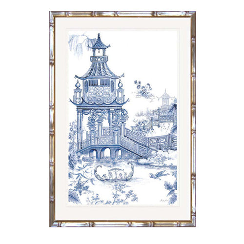 Willow Pattern Garden In Faux Bamboo Timber Frame