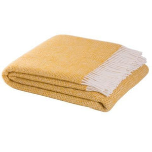 Hildasay Wool Throw - Mustard  Homewares nz