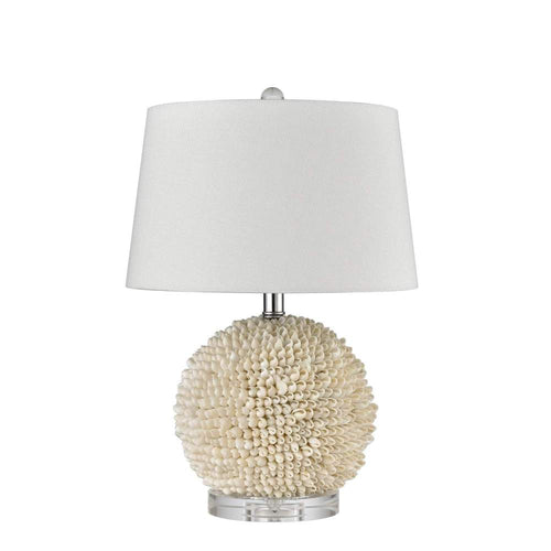 Round Shell Table Lamp With Shade 51cm Homewares nz