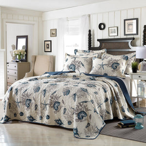 Coastal Elegance Coverlet Set - Queen  Homewares nz