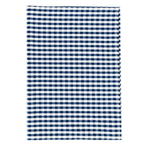 Gingham Check Cotton Tea Towel 50x70cm - Blue & White Homewares nz