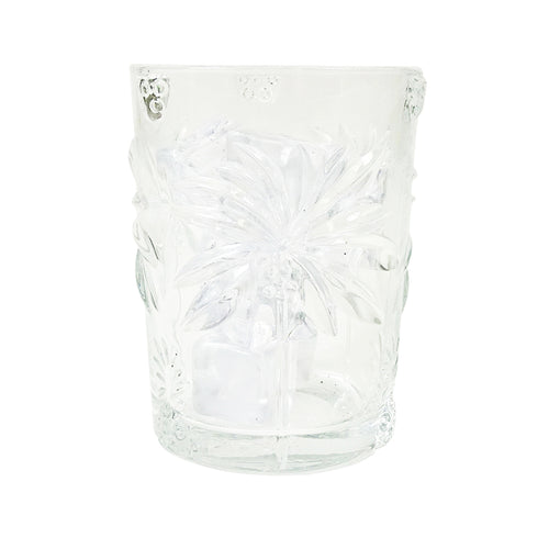 Palm Tree Glass Tumbler 11cm