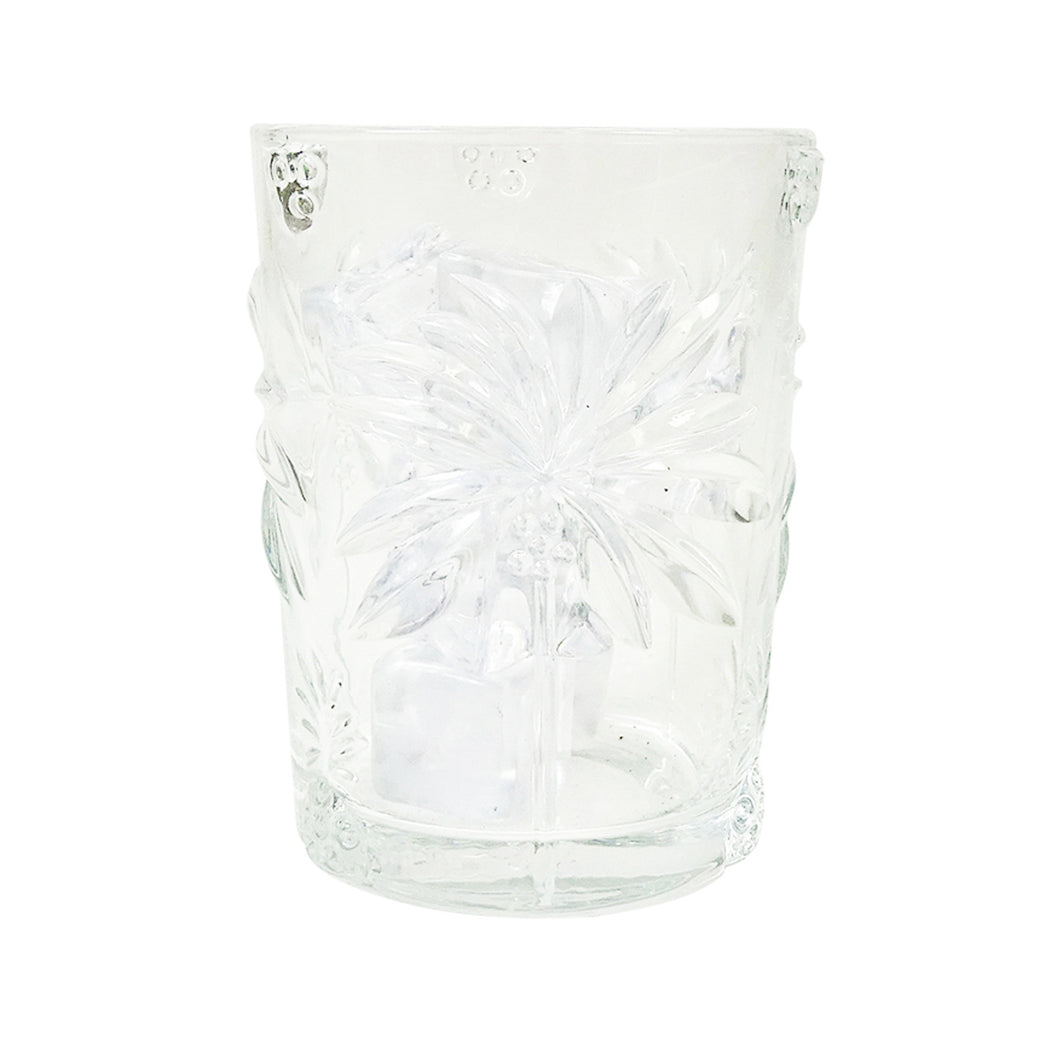 Palm Tree Glass Tumbler 11cm Homewares nz