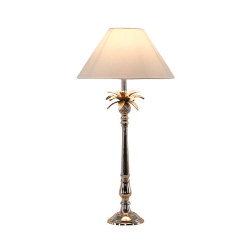 Pineapple Leaf Nickel Lamp With White Shade  Homewares nz