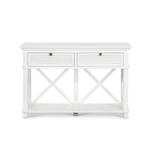 Rhode Island 2 Drawer Hall Console Table - White