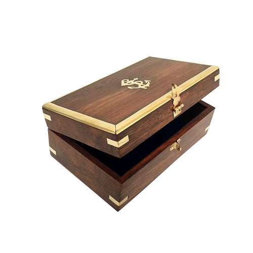 Nautical Wooden Jewellery Box 18cm Homewares nz