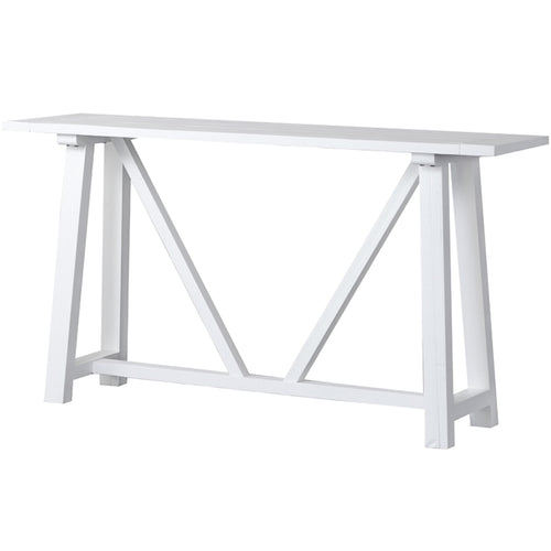 Newport Trestle Console Table -White  Furniture nz