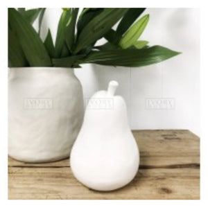 Large Pear Ornament - White Homewares nz