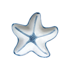 Starfish Plate Blue - Large  Homewares nz