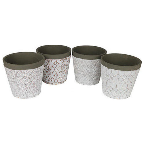 Patterned Pot 13cm (Assorted)  Homewares nz