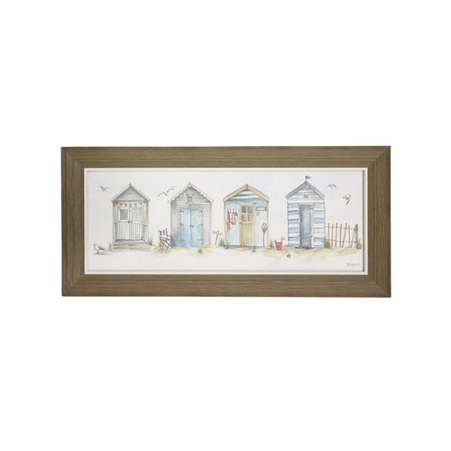 Bathing Booths Print In Natural Frame