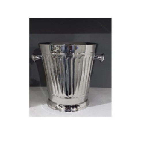 Pressed Pillar Stainless Steel Single Bottle Bucket 20cm