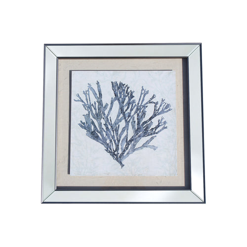 Framed Coral 3 - Blue