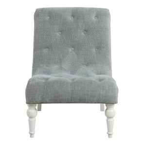 Provincial Leopold Occasional Chair - Soft Grey / White Legs  Furniture nz