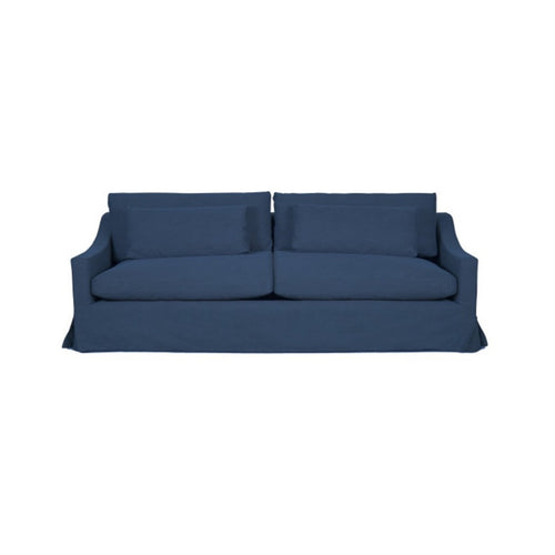 Newport 3.5 Seater Sofa - Denim Blue (With Slip Cover)  Furniture nz
