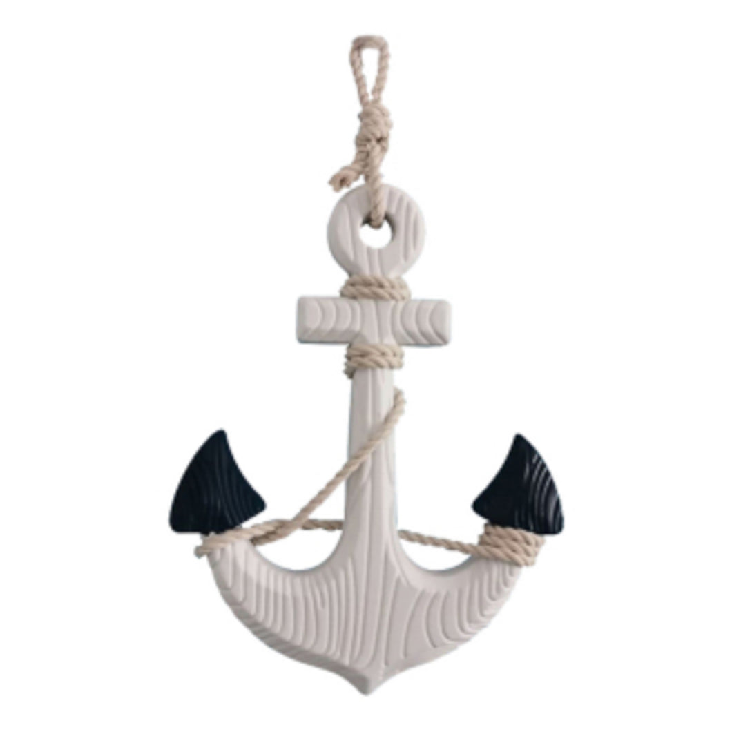 Ahoy Anchor Wood Sculpture 22cm