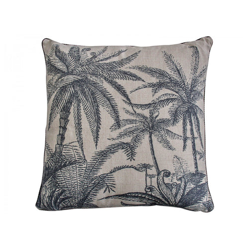 Palm Tree Black Cushion 45x45cm  Homewares nz