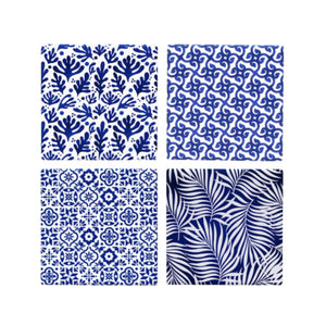 Set Of 4 Abstract Coasters (Assorted)  Homewares nz