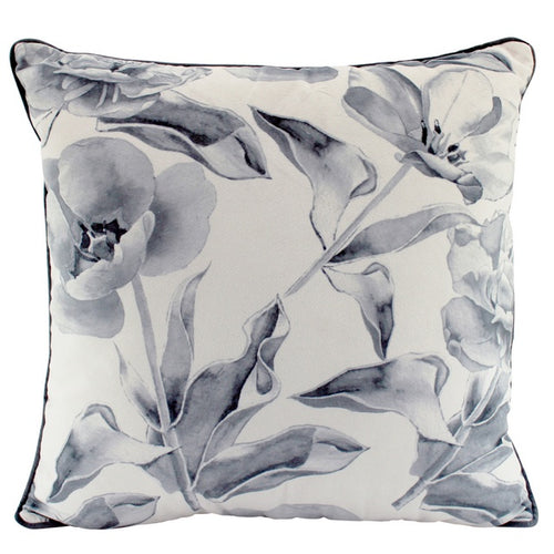 Floral Smoke Velvet Cushion 50x50cm  Homewares nz