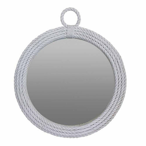 Nepean Round Rope Mirror - White  Homewares nz