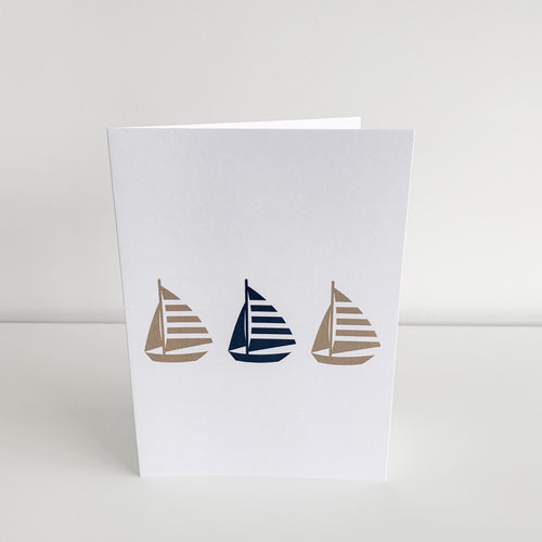 Standard Greeting Card - Three Yachts