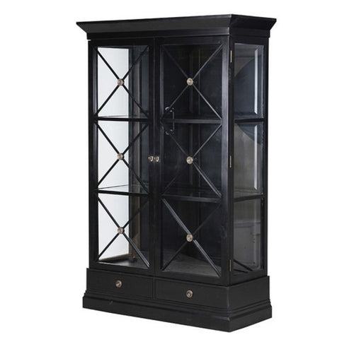 Chateau Display Cabinet - Black Furniture nz
