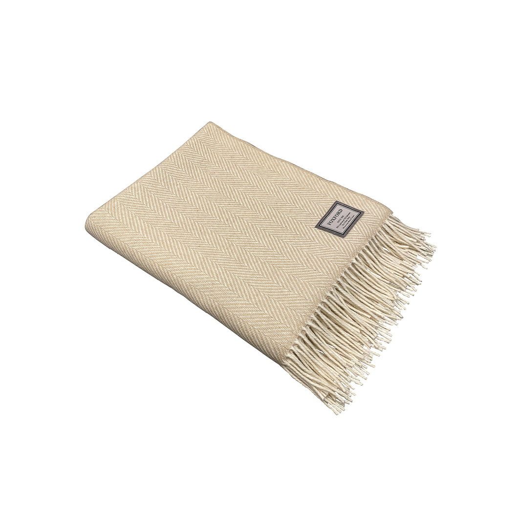 Cashmere Wool Bone Throw - Beige Homewares nz