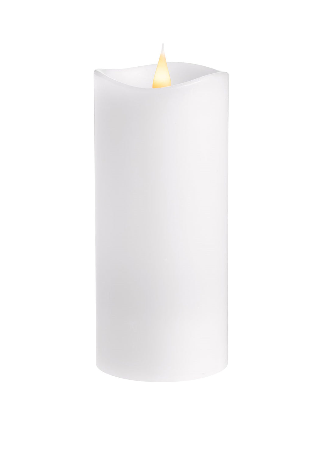 LED Candle 8x18cm - White Homewares nz