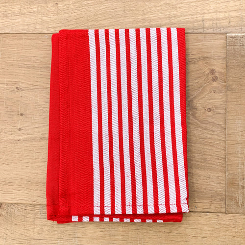 Yacht Cotton Tea Towel 50x70cm - Red