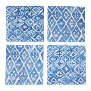 Coaster Painterly Blue Set Of 4  Homewares nz