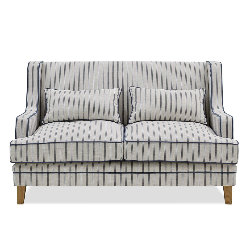 Hamptons 2 Seater Sofa In Blue & White Pin Stripe Furniture nz