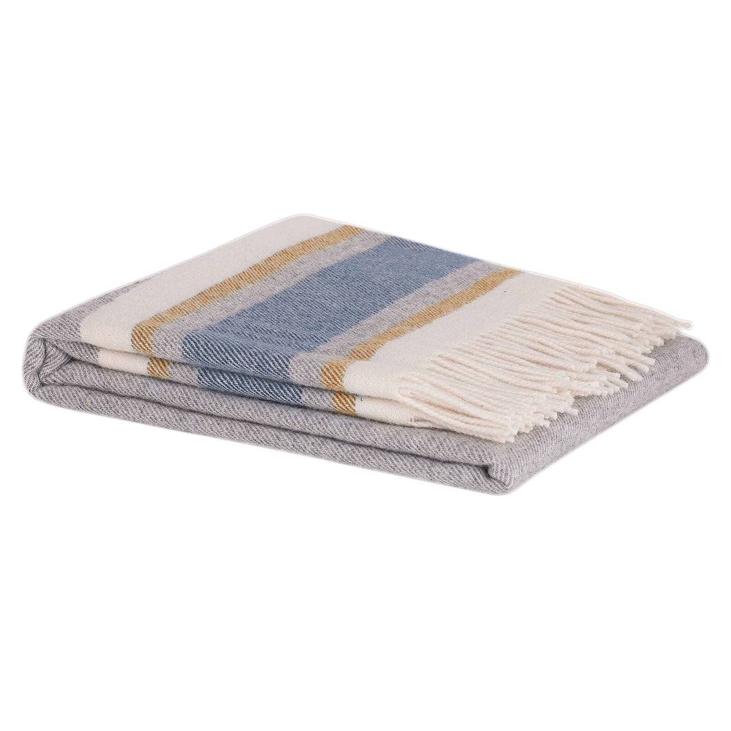 Ohope Wool Throw - Marine