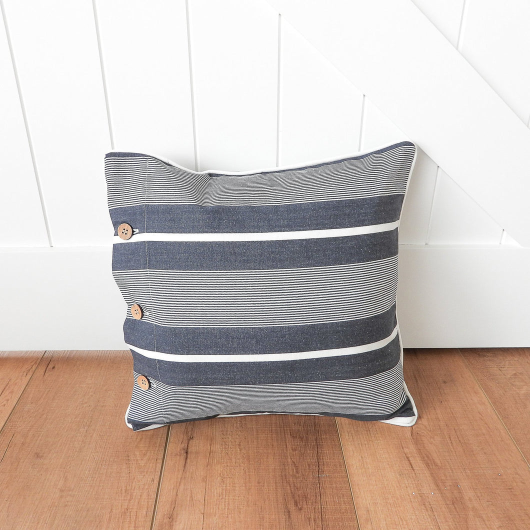 Finley Scatter Cushion 40x40cm - Charcoal  Homewares nz