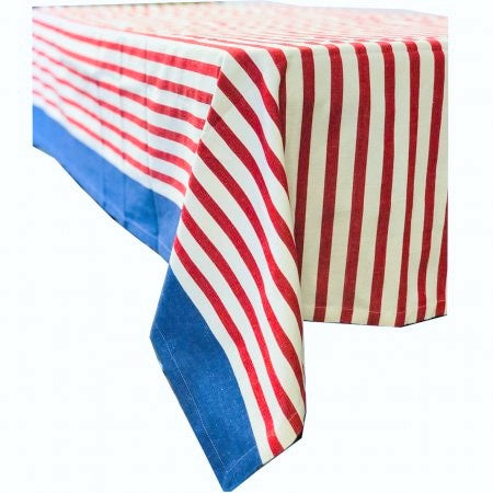 New York Square Tablecloth 150x150cm - Red & Blue