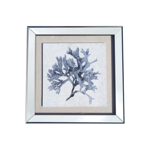 Framed Coral 2 - Blue