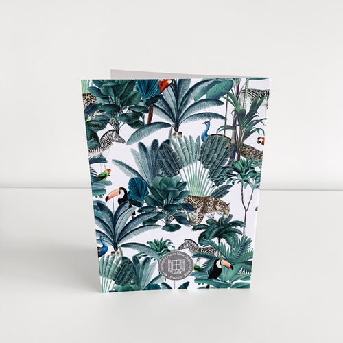 Standard Greeting Card - Plantation Leopard Homewares nz