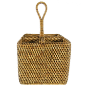 Rattan Table Caddy - Brown