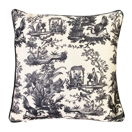 Toile Cushion 50x50cm - Black