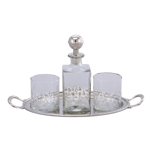 Marquess Decanter & Glass Set With Tray  Homewares nz