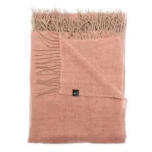 Victor Light Wool Throw 'Committed' - Peach