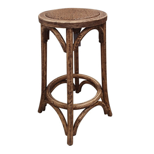 Panama Round Rattan Seated Bar Stool - Natural Furniture nz