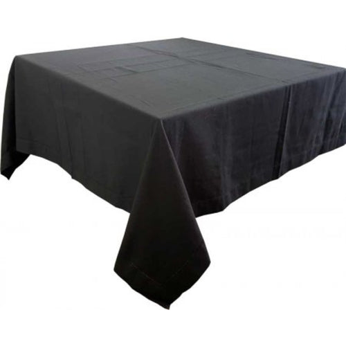 Hemstitched Square Tablecloth 150x150cm - Black Homewares nz