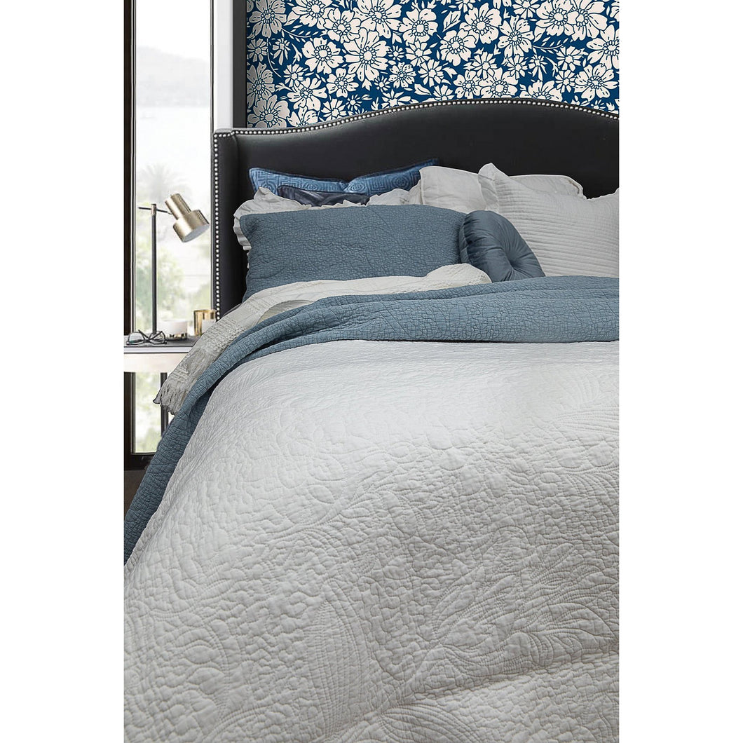 Monet White Coverlet Set - Queen  Homewares nz