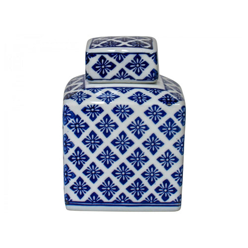 Square Motif Jar 15cm - Small  Homewares nz