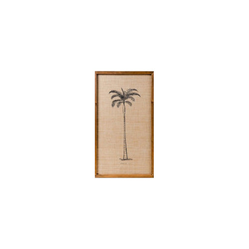 Plantation Palm Print In Frame  Homewares nz