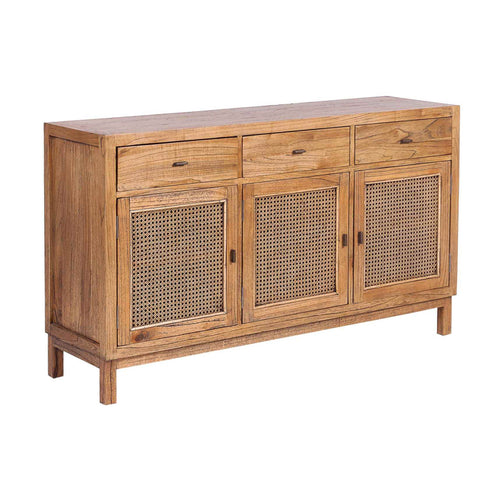 Bahamas Rattan 3 Door Buffet - Light Tobacco Furniture nz