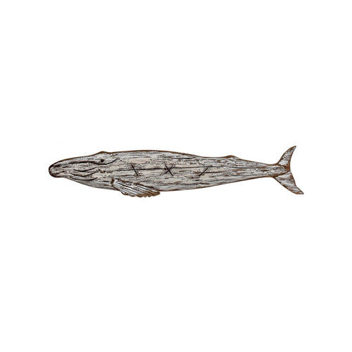 Reclaimed Wood Whale Wall Art